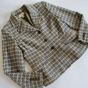 Talbots tweed blazer size 8